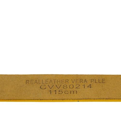 Curea piele naturala galbena CF035
