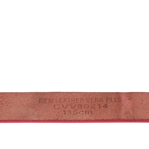 Curea piele naturala roz CF036