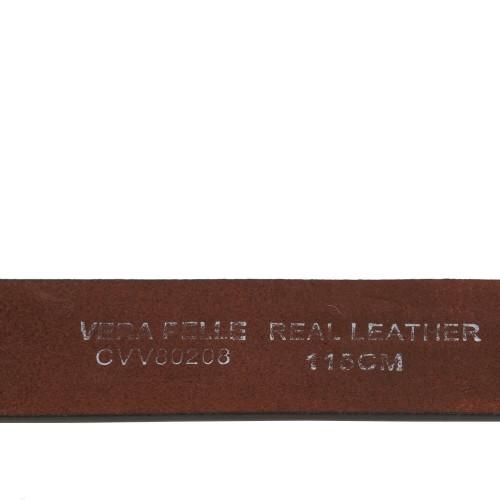 Curea piele naturala maro deschis cu strasuri CF056