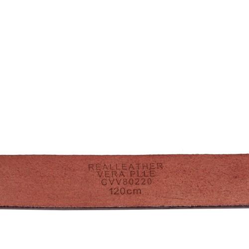 Curea piele naturala rosie cu tinte CF058