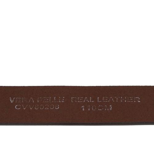 Curea piele naturala maro inchis cu strasuri CF062