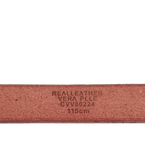 Curea piele naturala rosie CF068