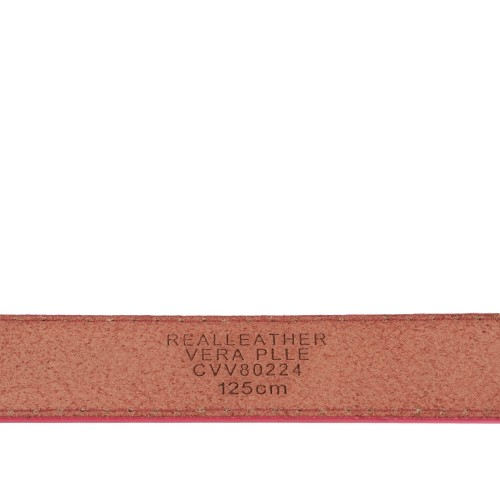 Curea piele naturala roz CF069