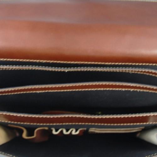 Geanta piele maro/ brun GB009