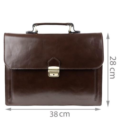 Geanta piele maro brun GB011