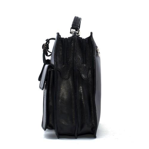 Geanta piele neagra GB037