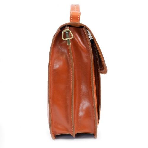 Geanta piele maro roscat  GB060
