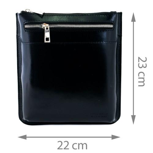 Geanta piele neagra GB080