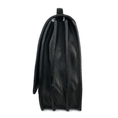 Geanta piele neagra GB082