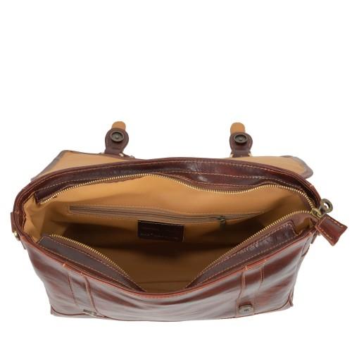 Geanta maro inchis piele naturala GB153