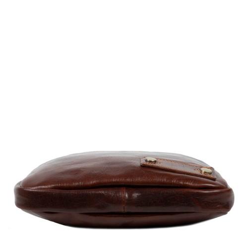 Geanta piele naturala maro inchis GB155