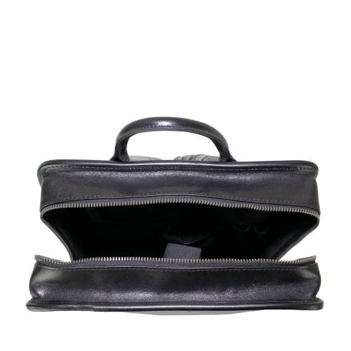 Rucsac tip servieta piele neagra GB171