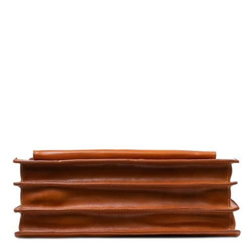 Geanta piele maro ocru GB174