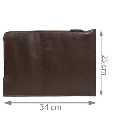 Mapa tip plic piele maro brun GB185