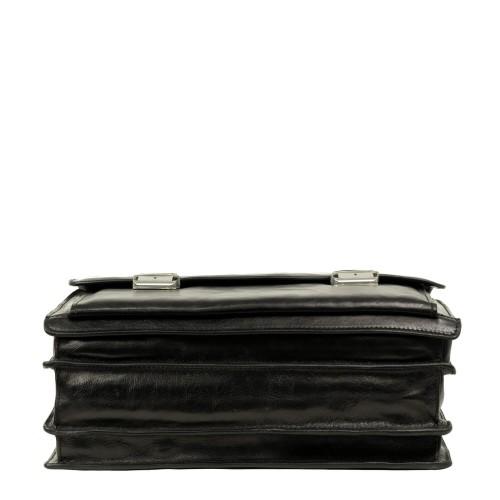 Geanta tip servieta piele neagra GB189