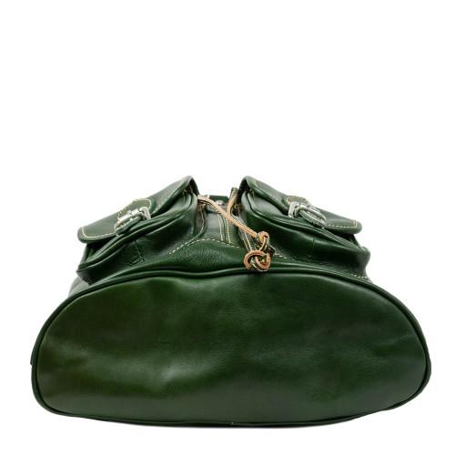 Rucsac piele verde GB197