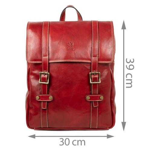 Rucsac piele rosu inchis GB200