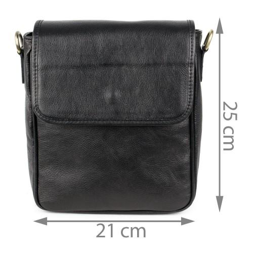 Geanta piele neagra GB119