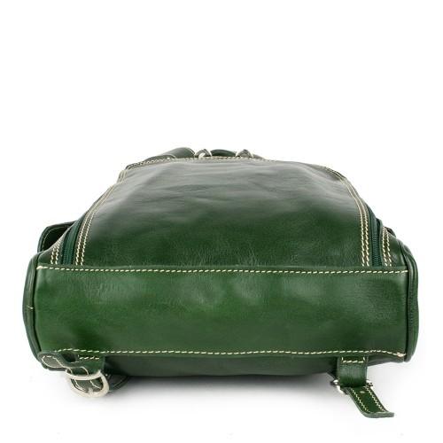 Rucsac piele verde inchis GB125