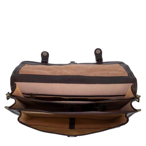 Geanta piele maro brun GB145