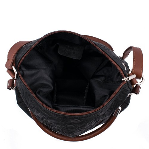 Geanta piele negru/maro Model GF013 Genti Femei