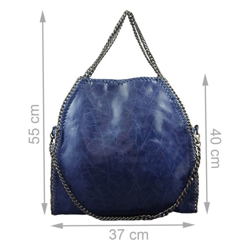 Geanta piele albastru GF022