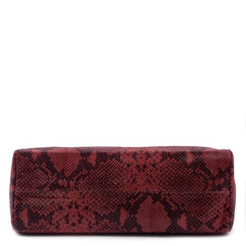 Geanta piele rosu/ negru cu imprimeu GF078