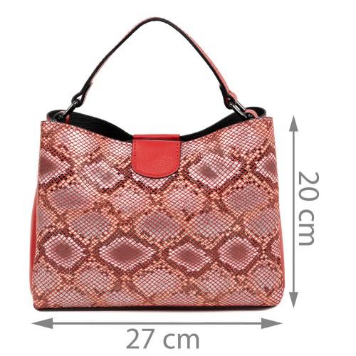 Gentuta imprimeu sarpe piele rosie GF1471