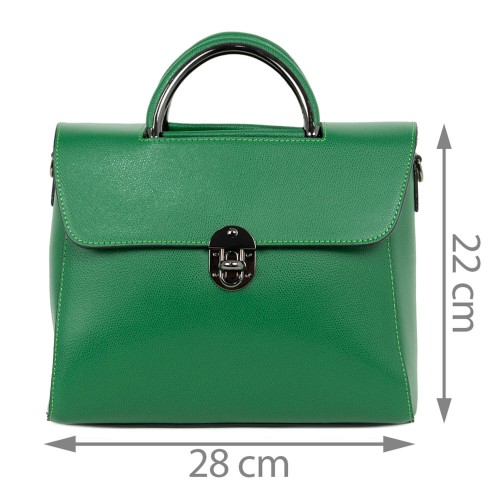 Geanta piele verde inchis GF1524
