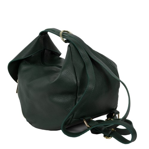 Gentuta piele verde inchis tip rucsac GF1645