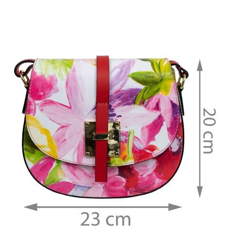 Gentuta piele roze imprimeu floral GF1671