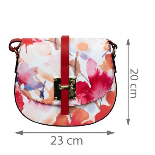 Gentuta piele flori mari rosii GF1672