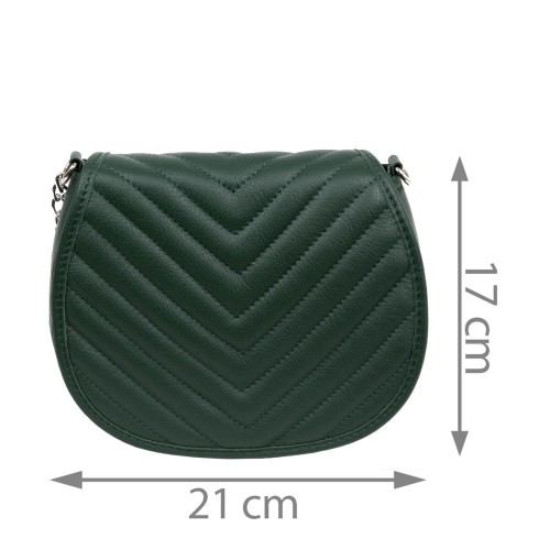 Gentuta dama piele verde inchis GF1686
