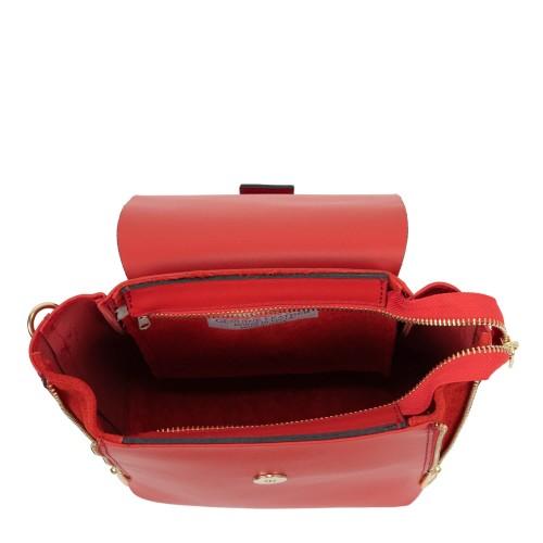Geanta piele rosie tip rucsac GF1692