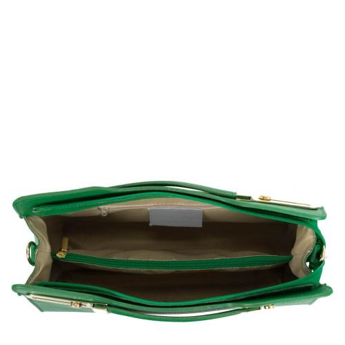 Geanta piele verde GF1702