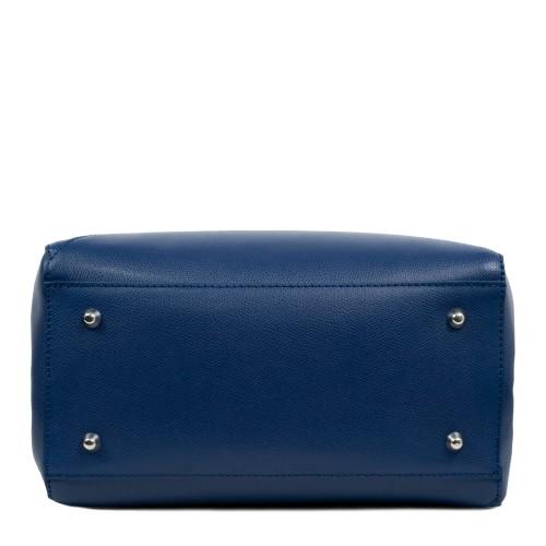 Geanta din piele albastra GF1705