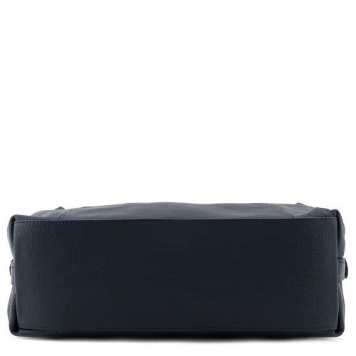 Geanta piele bleumarin cu ciucuri Model GF171 Genti Femei