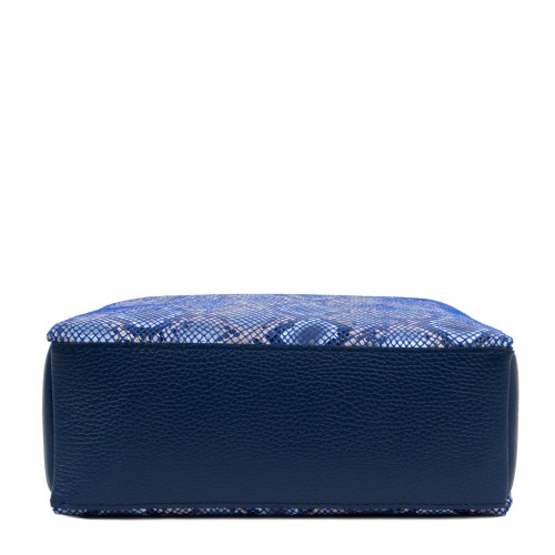 Gentuta imprimeu sarpe piele albastra GF1732