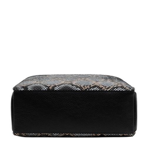 Gentuta imprimeu sarpe piele neagra GF1733