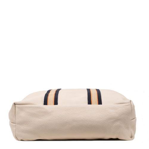 Geanta tip rucsac piele naturala alb-unt GF1740
