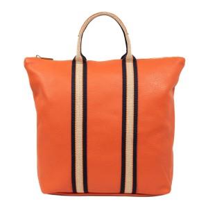 Geanta tip rucsac piele naturala oranj GF1741