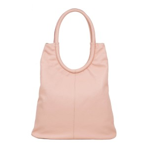 Geanta dama piele naturala roz pal GF1751