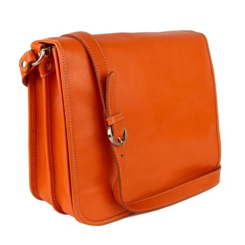 Geanta piele naturala oranj GF1760