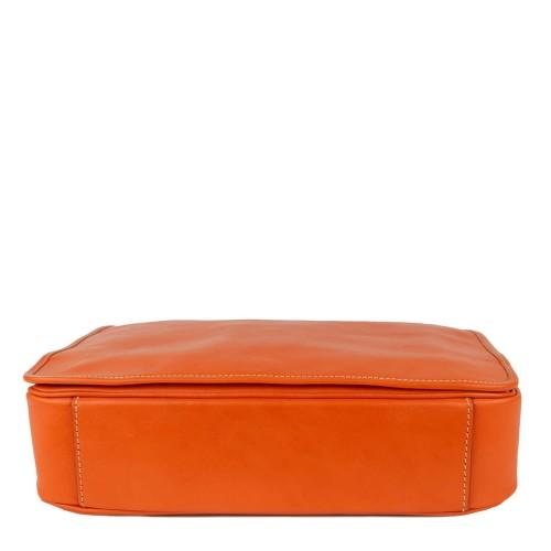 Geanta unisex piele oranj GF1763