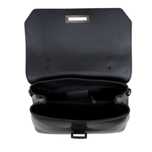 Geanta imprimeu sarpe piele neagra GF1775
