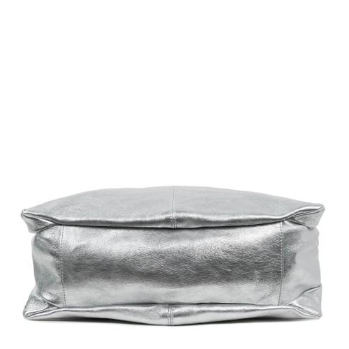 Geanta dama piele naturala argintie GF1779