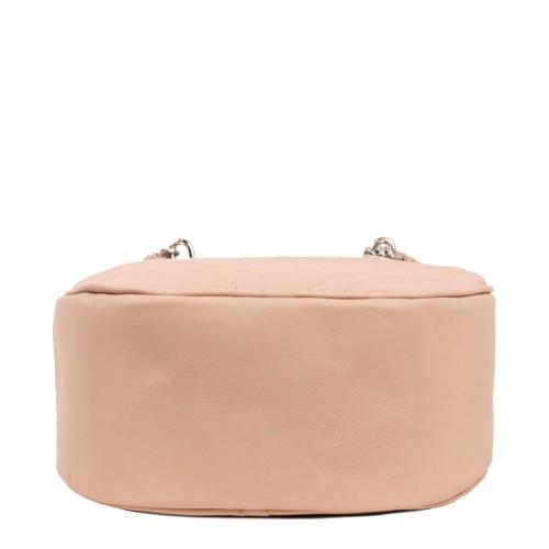 Geanta piele roz pal matlasata GF1798