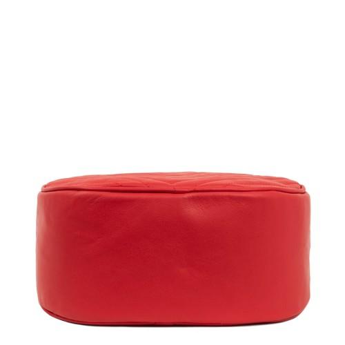 Geanta piele rosie matlasata GF1799