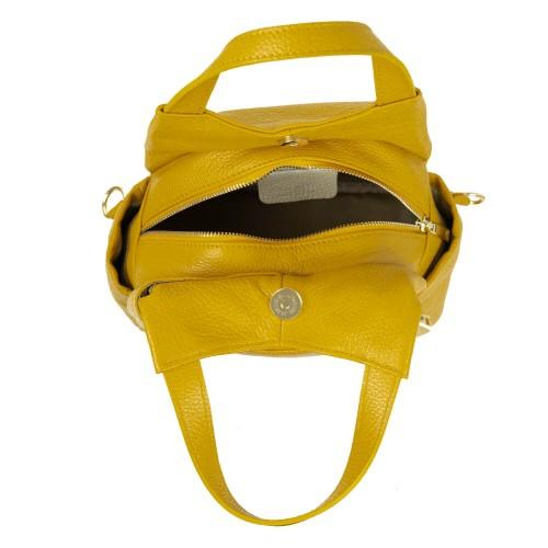 Rucsac tip geanta piele galbena GF1804