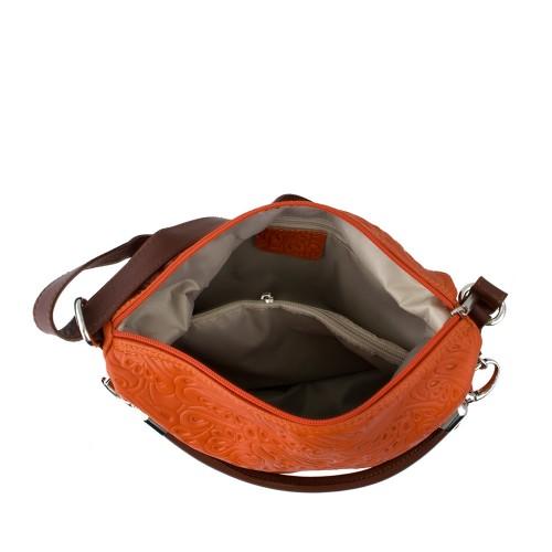 Geanta piele oranj Model GF182 Genti Femei